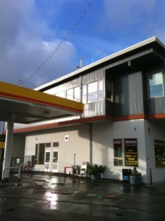 Picture of completed gas station & day care center in Seattle, WA